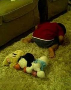 نماز جماعت با عروسک